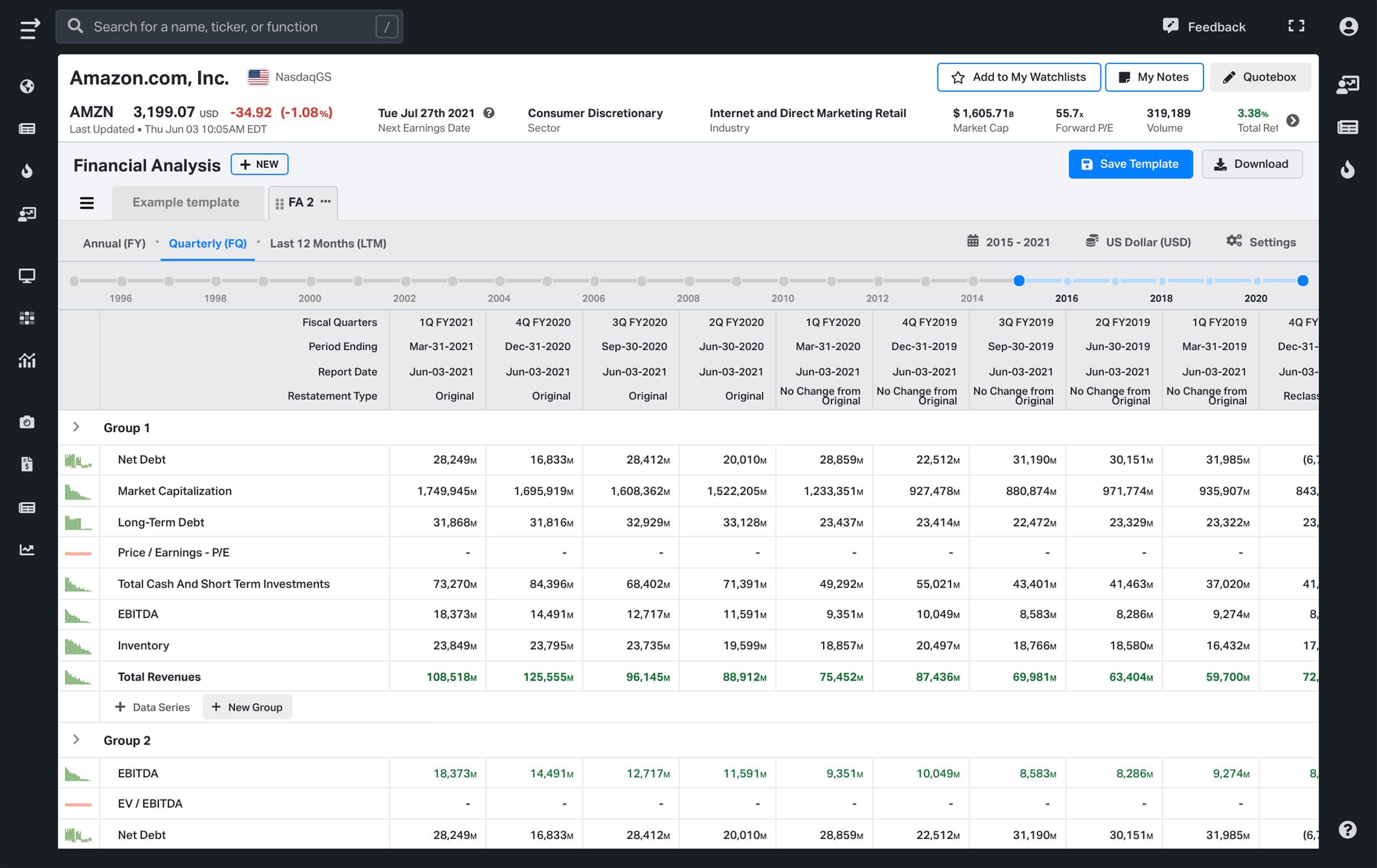 Koyfin release 3.4 - Create a customised financial analysis templates